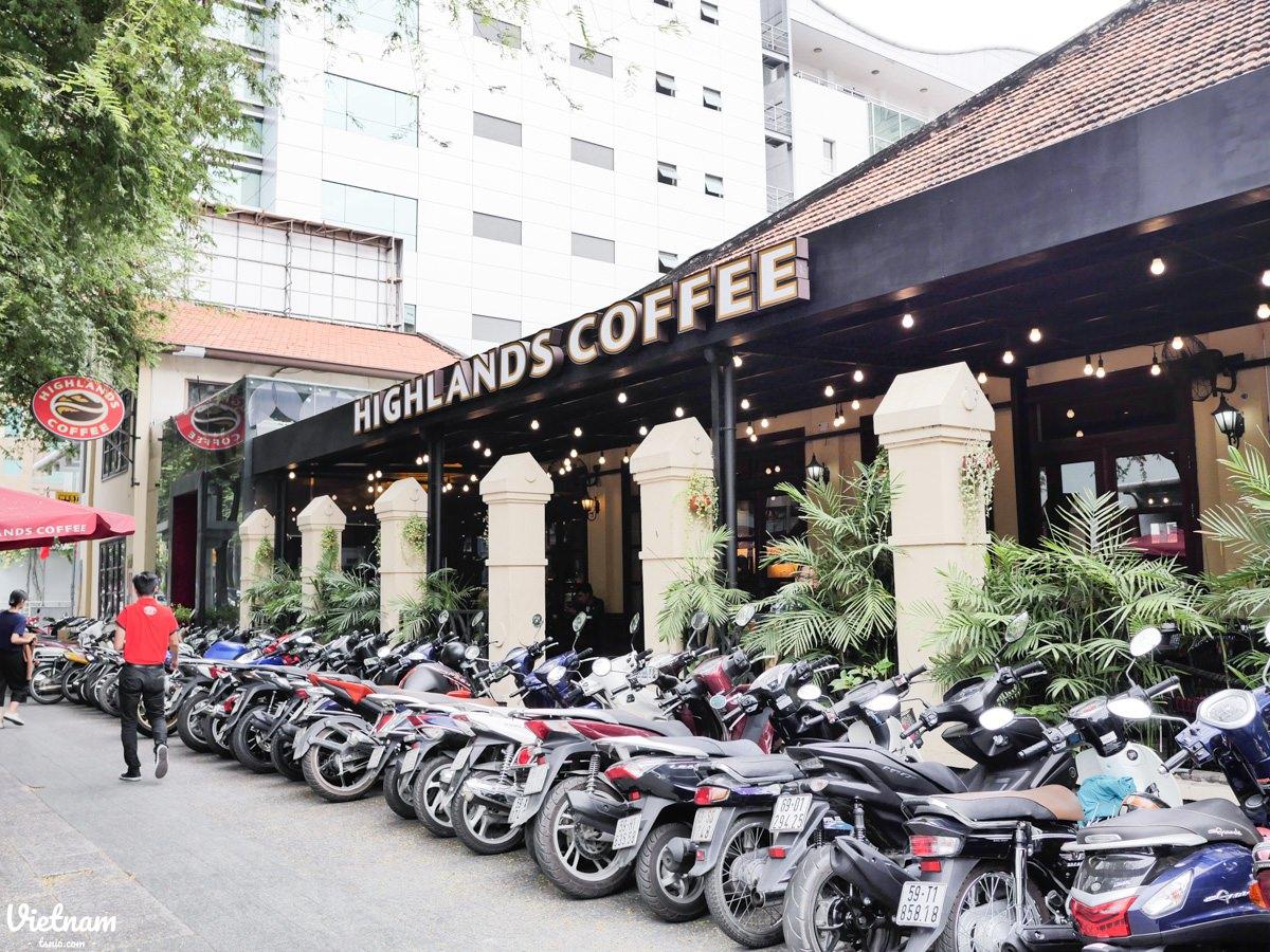 越南高原咖啡 Highlands Coffee 胡志明市咖啡廳推薦