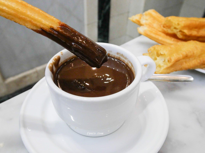 西班牙馬德里美食推薦 Chocolatería San Ginés 必吃西班牙油條巧克力
