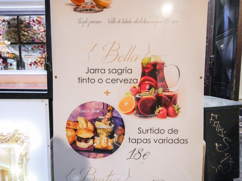 西班牙格拉納達美食推薦 La Bella Y La Bestia 華麗風酒館餐廳