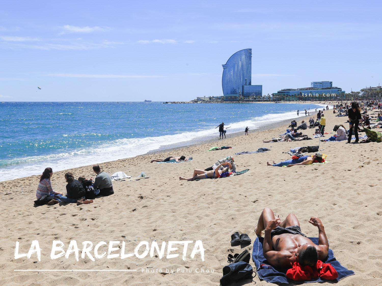 西班牙巴塞隆納海灘 Barceloneta Beach 巴塞羅內塔海灘