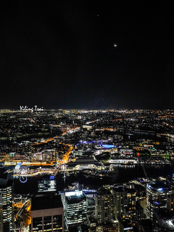 澳洲雪梨景點 雪梨塔觀景台、雪梨塔旋轉餐廳自助餐超美夜景