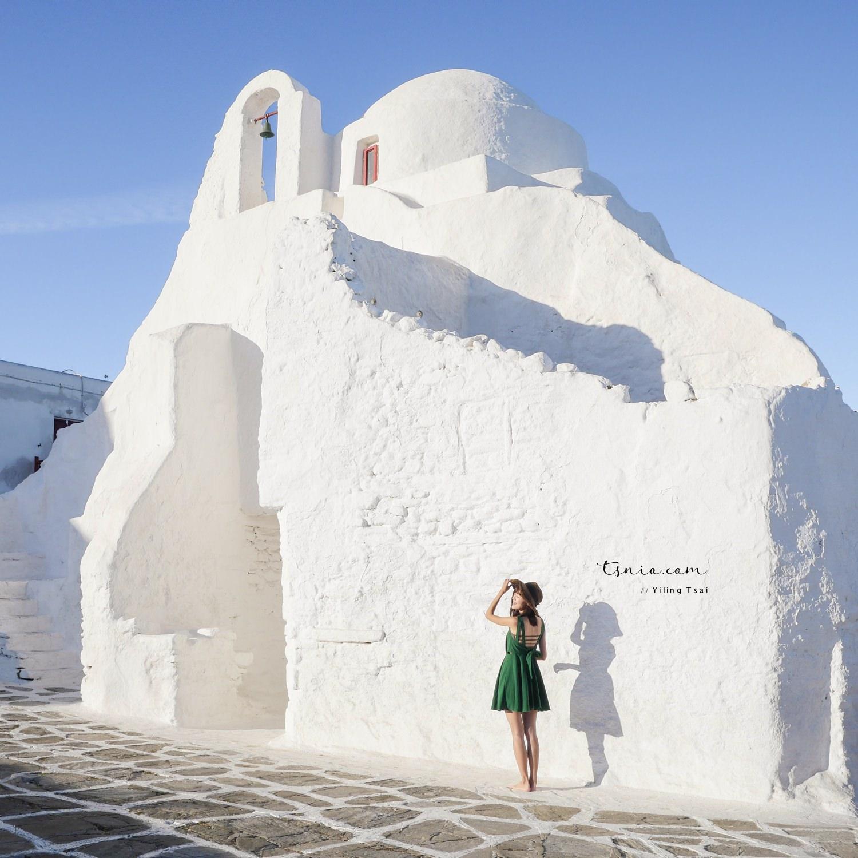 希臘米克諾斯景點 Paraportiani Church 純白棉花奶油教堂