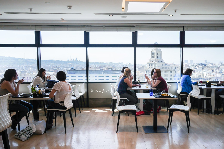 西班牙巴塞隆納美食 La Placa Gastro Mercat 英國宮頂樓異國美食街