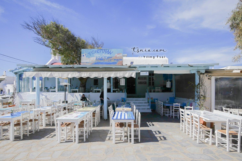 希臘米克諾斯美食 Fisherman – Giorgos & Marina Tavern Ano Mera 小鎮餐廳推薦