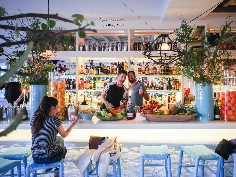 希臘米克諾斯酒吧 Caprice Bar 享有米克諾斯夕陽超棒視野
