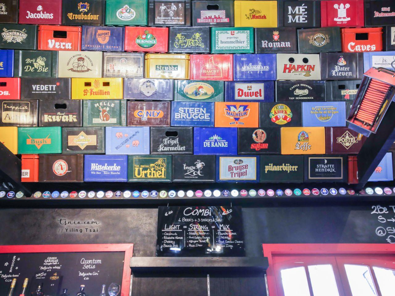比利時布魯日啤酒推薦 2Be 河岸旁啤酒專賣店酒吧 布魯日啤酒牆