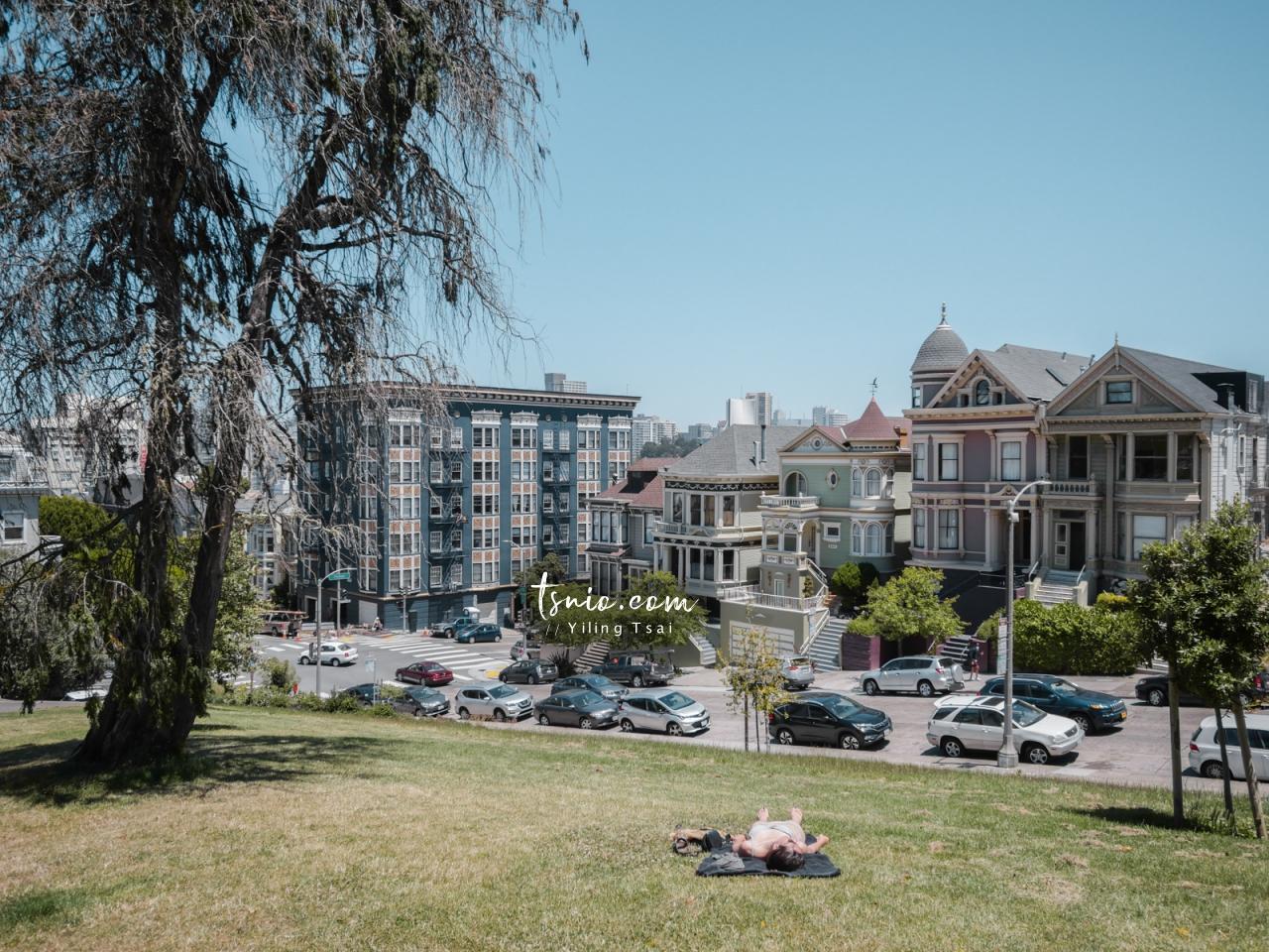 美國舊金山景點 Alamo Square 阿拉莫廣場、Painted Ladies 彩繪女士六姊妹