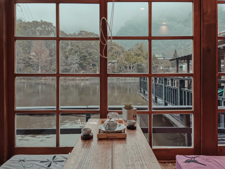 南投車埕 隱茶 Steam 貯木池畔水上日式玻璃屋茶坊 熱門車埕景點美食