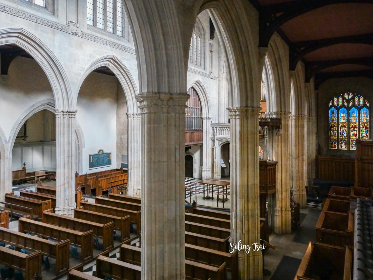 英國牛津景點 聖瑪麗大學教堂 University Church of St Mary the Virgin 登上塔樓欣賞牛津美景