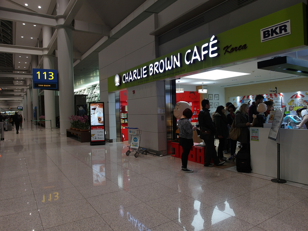 [韓國 仁川] 仁川機場查理布朗咖啡 Charlie Brown Cafe