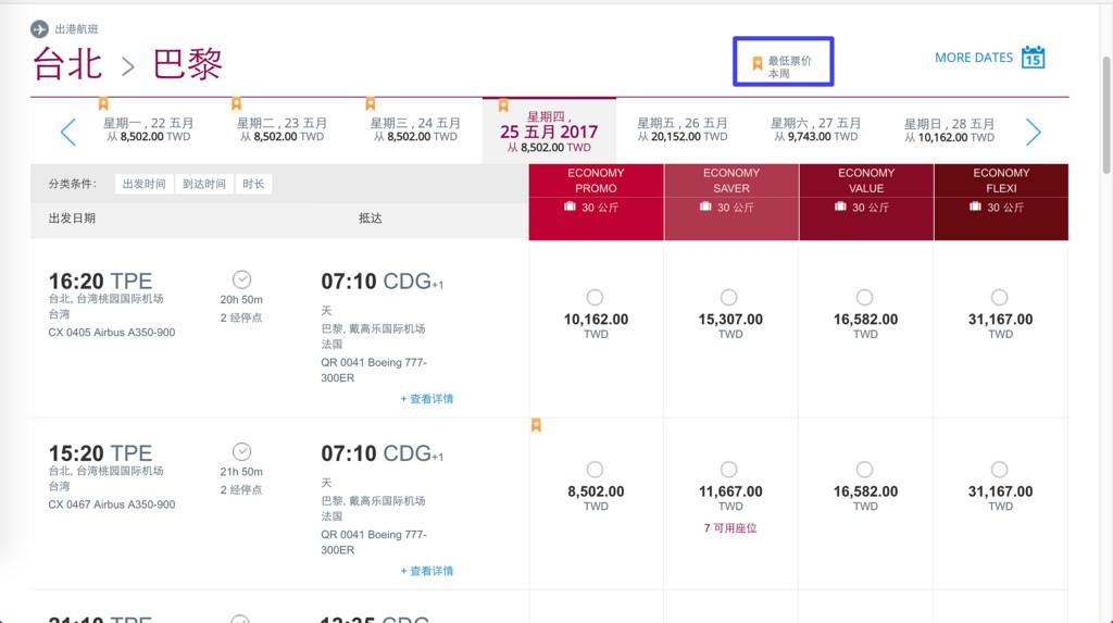 [歐洲] 卡達航空 Qatar Airways 官網訂票中文教學 超划算歐洲機票
